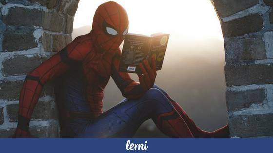 Spider-man uczy sie jezyka obcego